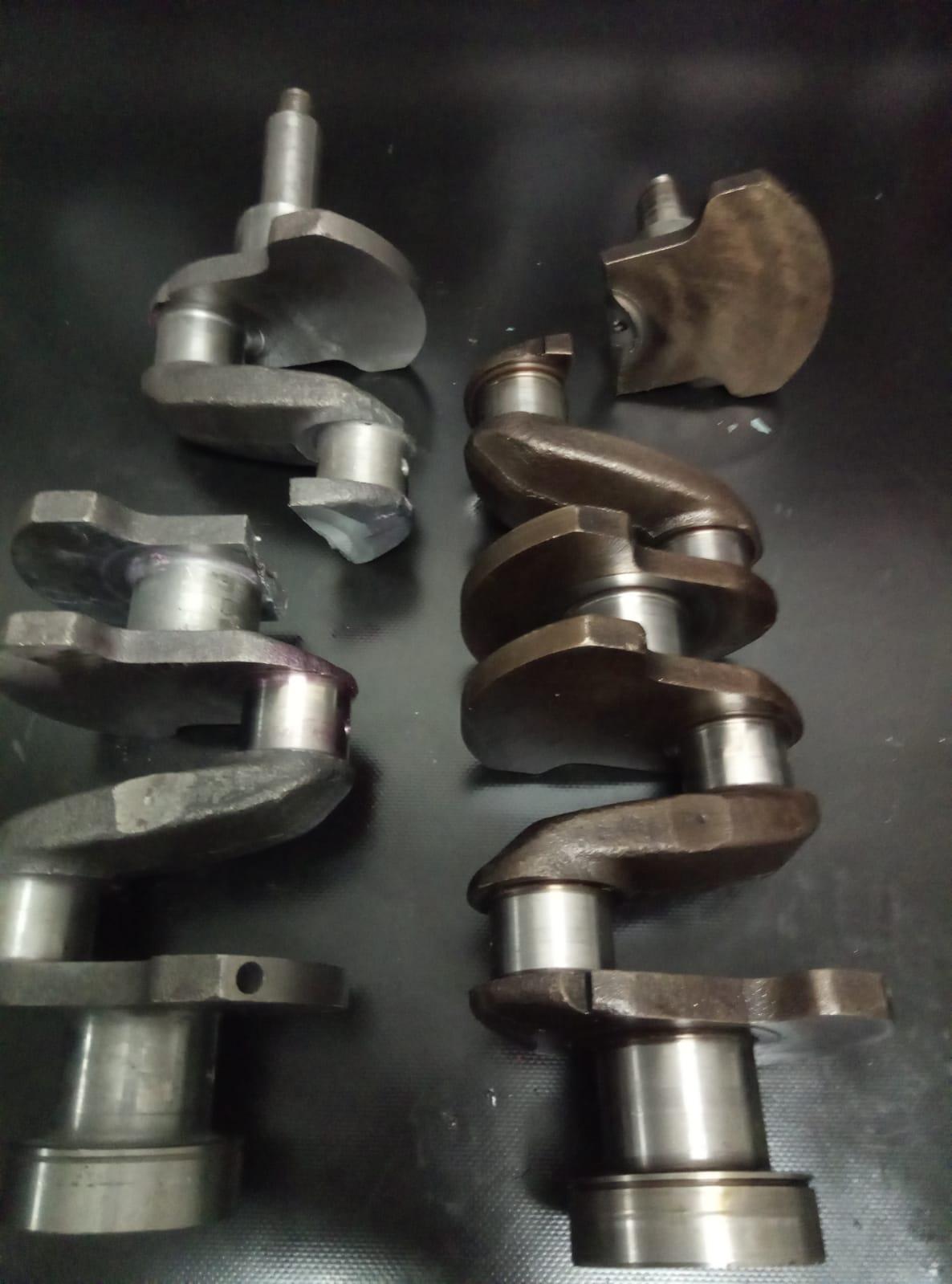 zlomená nadvařená kliková hřídel